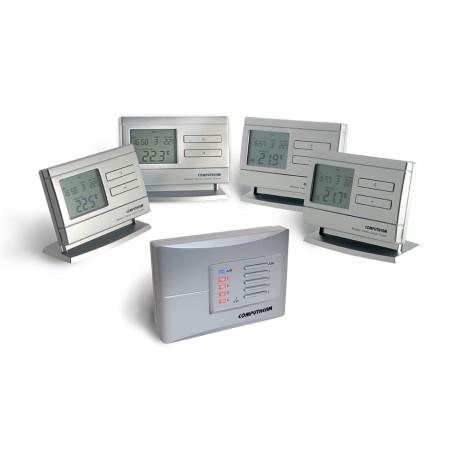 Multizónový programovatelný bedrátový termostat Q8 RF (2ks term. + 1ks příjmač)